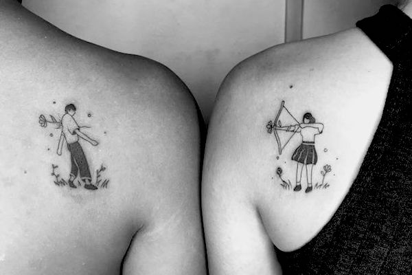 109 Hopelessly Romantic Couple Tattoos That Are Better Than A Ring
