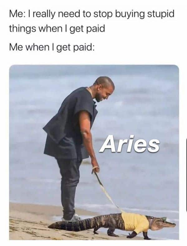 Funny Aries memes that speak volume - OurMindfulLife.com / astrology memes about Aries facts, Aries personality traits and Aries problems