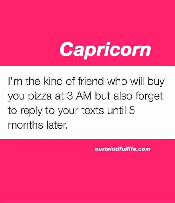 Funny Capricorn memes that are basically Capricorn facts - ourmindfullife.com/ astrology memes about Capricorn personality, Capricorn traits and problems