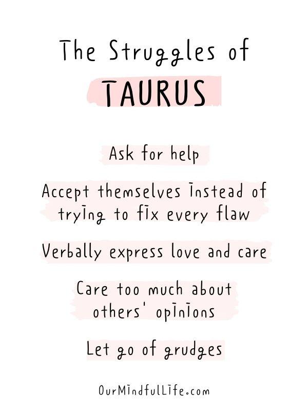The struggles of Taurus - relatable Taurus facts quotes