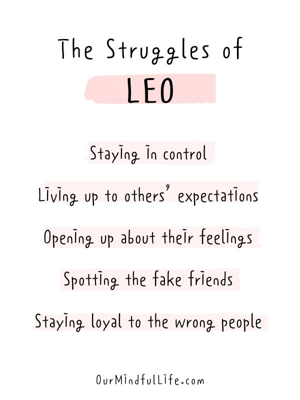 Things Leo struggle with - relatable Leo quotes about Leo problems, Leo facts and Leo personality traits